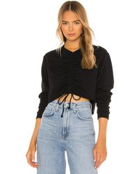 h:ours Cropped Crewneck - Black