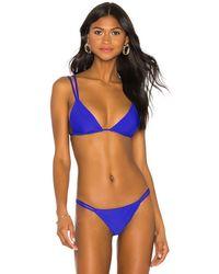 superdown Alisha Strappy Bikini Top - Blue