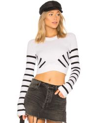 T By Alexander Wang - Multi Direction Stripe Sweater - Lyst