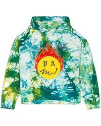 Palm Angels Худи Burning Head В Цвете Зеленый Лес