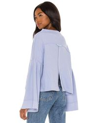 Free People Bunny Tee Pullover - Blue