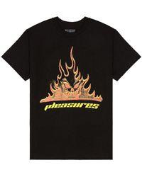 Pleasures Flameboy Tシャツ - ブラック