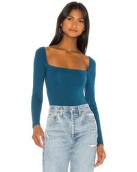 Lovers + Friends Remi Bodysuit - Blau