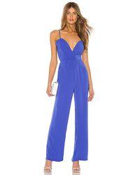 superdown Abigail Wide Leg Jumpsuit - Blue