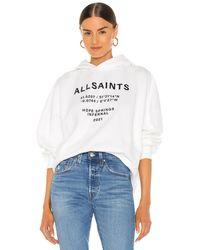 AllSaints Худи Coordinates В Цвете Оптический Белый