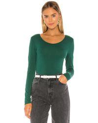 Bobi Draped Modal Jersey Bodysuit - Green
