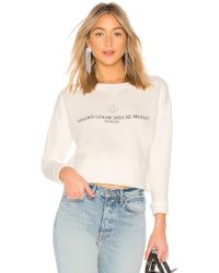 Golden Goose Deluxe Brand - Sissi Sweatshirt In White - Lyst