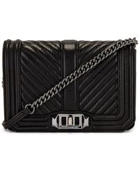 Rebecca Minkoff Quilted Small Love バッグ - ブラック