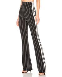 Norma Kamali Side Stripe パンツ - ブラック