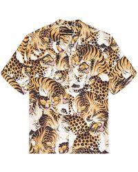 AllSaints Рубашка Pryde В Цвете Серовато-бежевый - Многоцветный