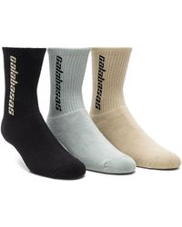 Yeezy Season 6 Calabasas 3 Pack Socks - Multicolor