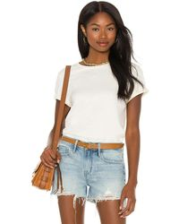 FRAME Rolled True Tシャツ - ホワイト