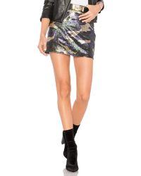 Bobi Black Sequin Camo Skirt