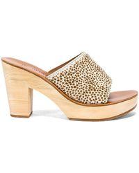 1b44c85f84018 Lyst - K. Jacques Diorite Fuchsia Suede Cork Wedge Thong Sandal in ...