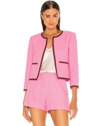 L'Agence Alexandria Cropped Jacket - Pink