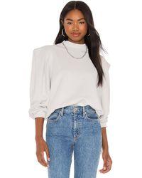 Agolde Folded Sleeve Sweatshirt - Weiß
