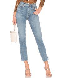 Agolde Remy High-Rise-Jeans mit geradem Bein - Blau
