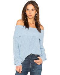525 America - Off Shoulder Sweater - Lyst