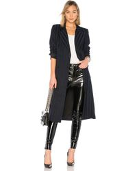 Lovers + Friends - Tove Wrap Coat In Navy - Lyst