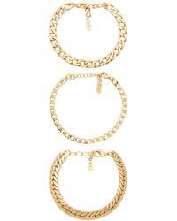 Natalie B. Jewelry - Tre Catena Bracelet - Lyst
