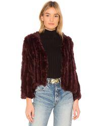 Heartloom - Rosa Fur Jacket In Wine - Lyst