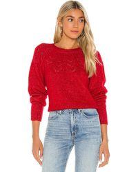 BB Dakota Turn Knit Up セーター - レッド