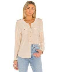 L'Agence Lucca Military Blouse - Natur