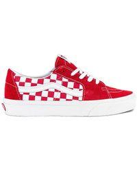 Vans Кроссовки Sk8 В Цвете Racing Red & Checkerboard - Красный