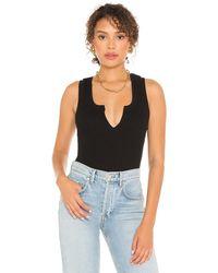 The Range Camiseta tirantes slashed - Negro
