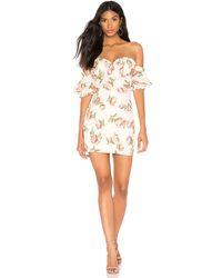 superdown Lou Bustier Frill Dress - Weiß