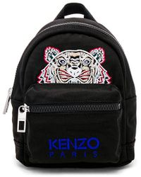 KENZO Mini Nylon Backpack - Schwarz