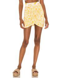 Free People She's Something Else Mini Skirt - Yellow