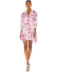 MSGM Платье В Цвете Фуксия - Розовый