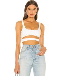 h:ours Montee Crop Top - White