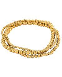 Natalie B. Jewelry Набор Браслетов Bella Trois В Цвете Золотой - Металлик