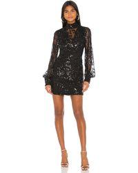 Alexis Мини Платье Franciska В Цвете Beaded Black - Black. Размер S (также В Xs). - Черный