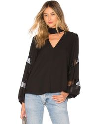 Elizabeth and James - Evanna Top In Black - Lyst