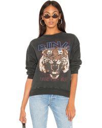 Anine Bing Sweatshirt mit Tiger-Print - Schwarz
