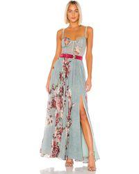 PATBO Peony Bustier Maxi Dress - Blau