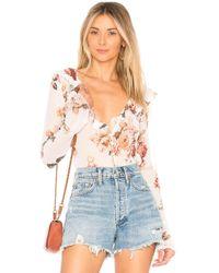 MAJORELLE Blusa de flores fleur - Blanco