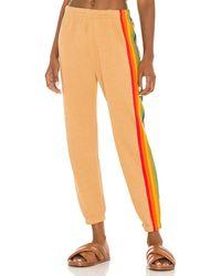 Aviator Nation 6 Stripe Sweatpant - Orange