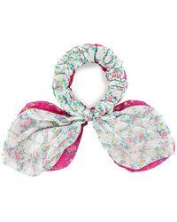 LoveShackFancy Gauze Swim Scrunchies - Pink