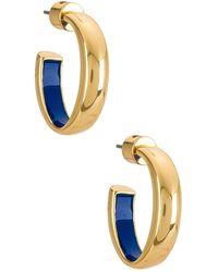 Jenny Bird Серьги-кольца Mavi В Цвете Золотой - Металлик
