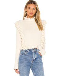 LPA Alexa Ruffle Sweater - Weiß