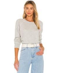 RE/DONE X Hanes Classic Raglan Crewneck Sweatshirt - Grey