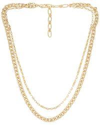Amber Sceats Ожерелье Layered Chain В Цвете Золотой - Металлик