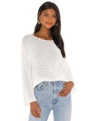 Lovers + Friends Lalah Open Knit Sweater - White