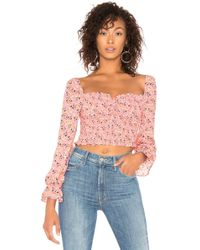 Likely - Camilla Floral Arabella Top - Lyst