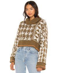 Free People Пуловер Jupiter В Цвете Shaded Grass - Многоцветный