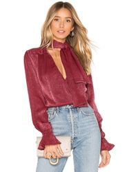 House of Harlow 1960 - X Revolve Nanette Blouse In Wine - Lyst